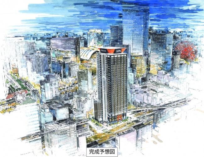 アパホテル&リゾート〈梅田駅タワー〉完成予想図