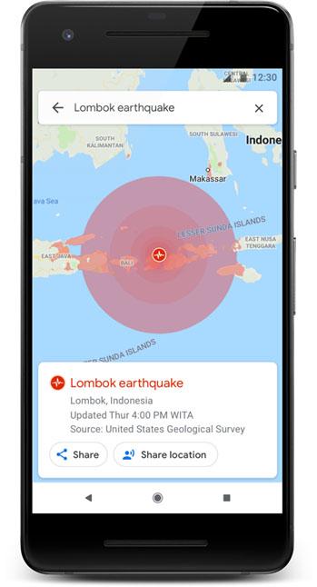 地震のシェイクマップ