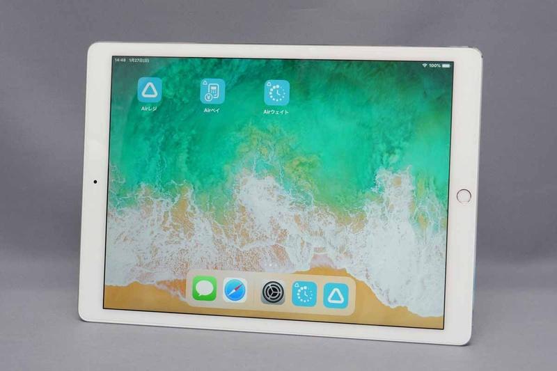 Airレジ用として選択した「iPad Pro 第2世代 12.9インチ」。操作性を考慮して大画面モデルを選択