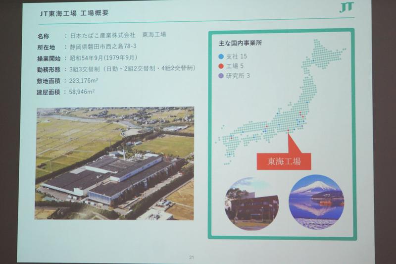 JT東海工場 概要