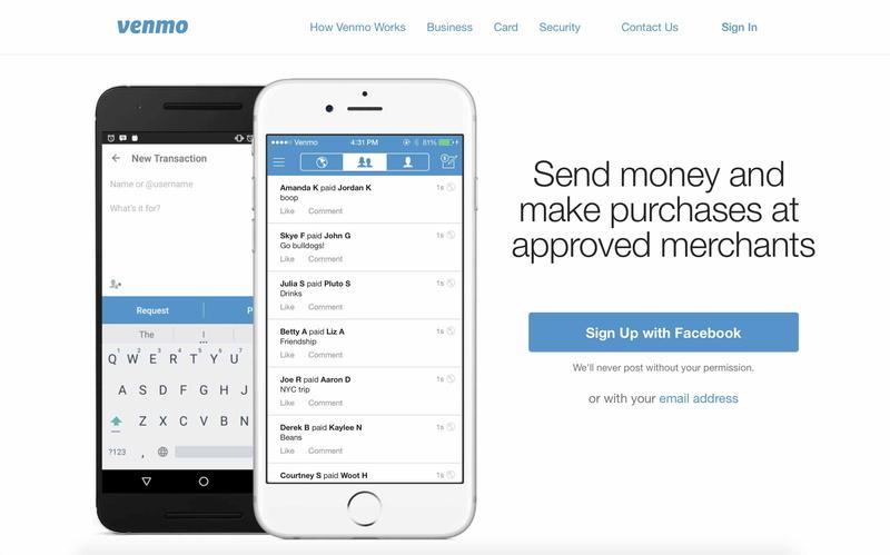 米国では若年層を中心に利用が広まっている個人間送金サービスVenmo。ソーシャルストリームが特徴