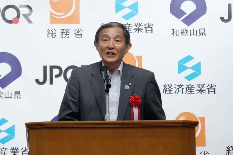 和歌山県知事の仁坂吉伸氏。和歌山県がキャッシュレス日本一を目指すと高らかに宣言