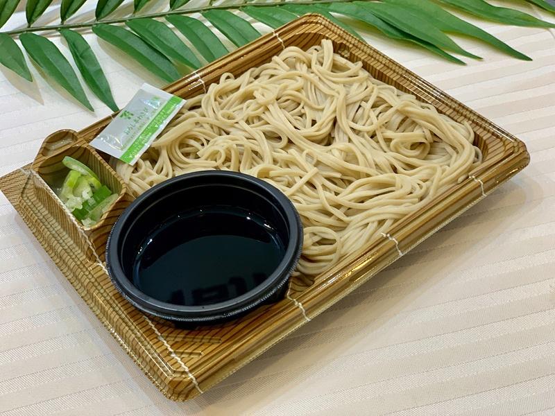 もりそば(宮古島市産玄蕎麦麦使用) 価格は400円