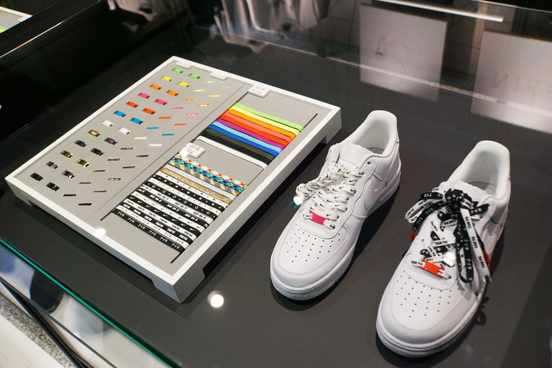 NIKE BY YOUで展開するシューレースのサンプル