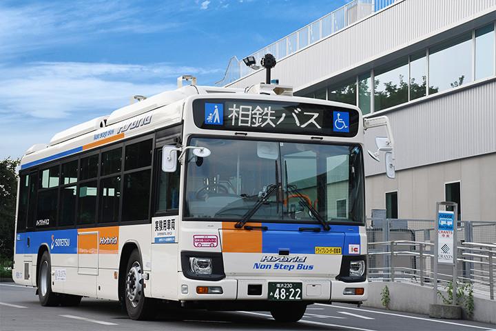 今回の実証実験で使用するバス