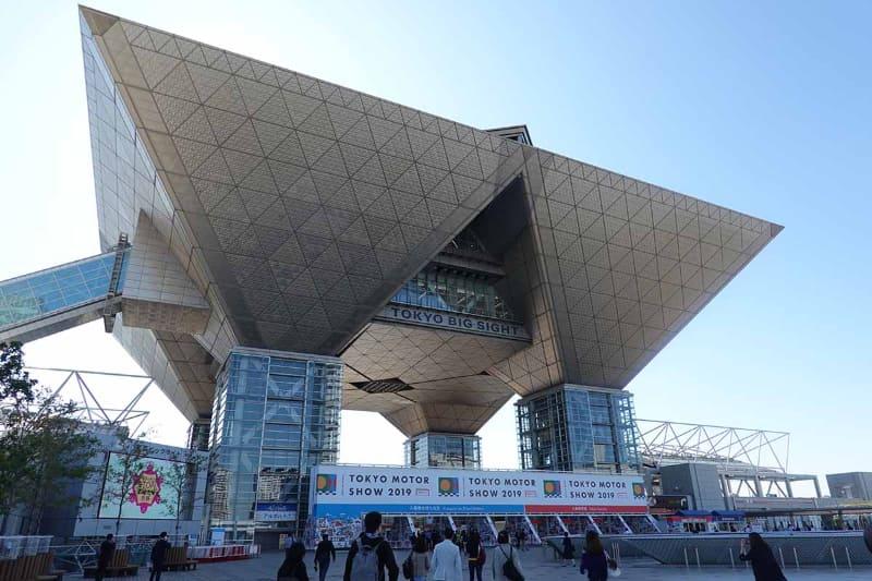 東京モーターショーのメイン会場となる東京ビッグサイトの西展示棟・南展示棟