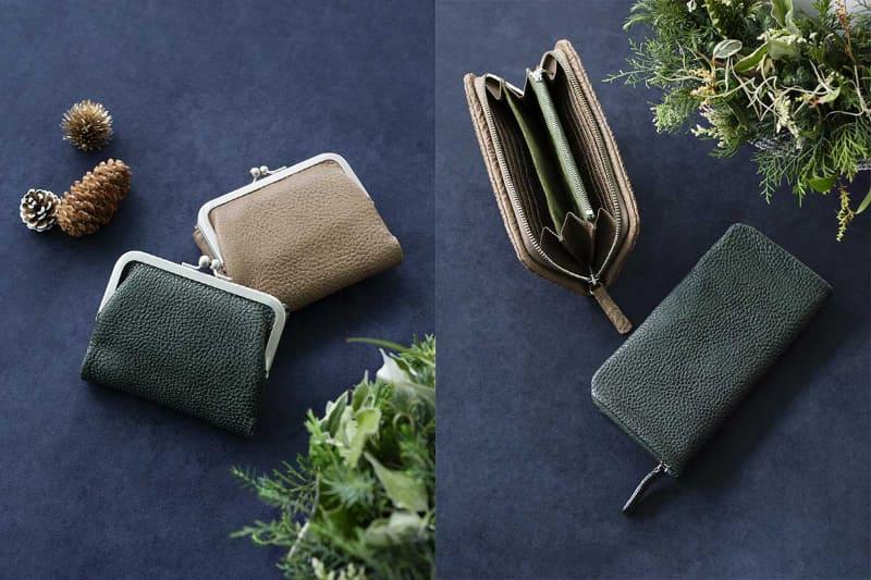 左:がま口ポケット財布、右:クッションファスナー長財布