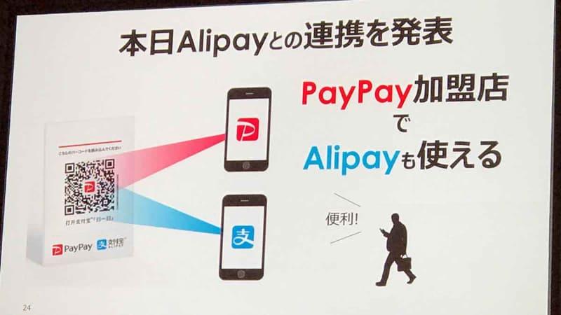 PayPayではサービスインの前段階から中国Alipayとの提携を前面に打ち出していた