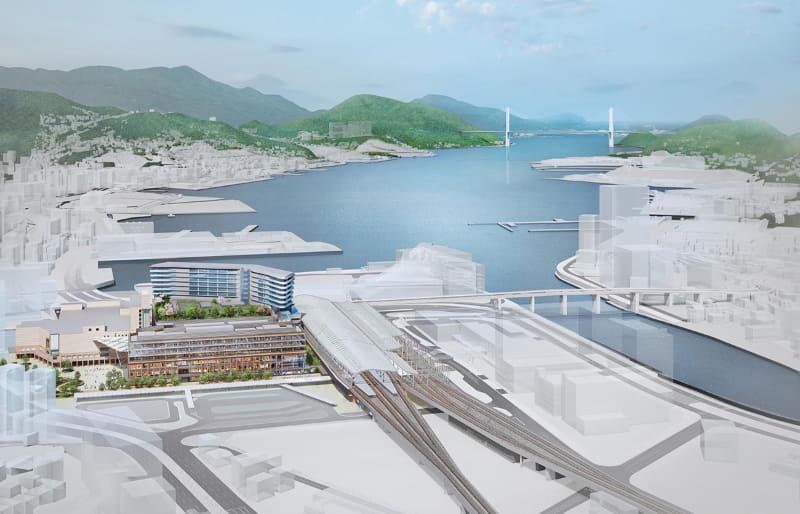 外観イメージ 敷地北から長崎港を臨む