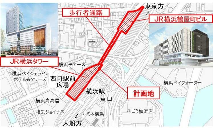 JR横浜タワー 位置図