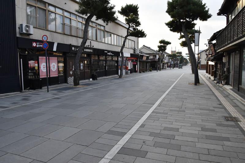 島根県 出雲大社前の神門通り商店街