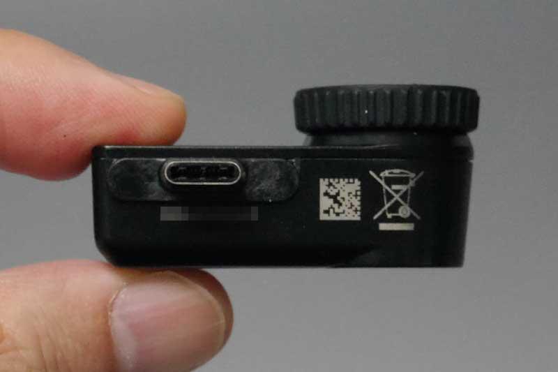 上面。端子はLightning、USB Type-C、microBの3タイプがある