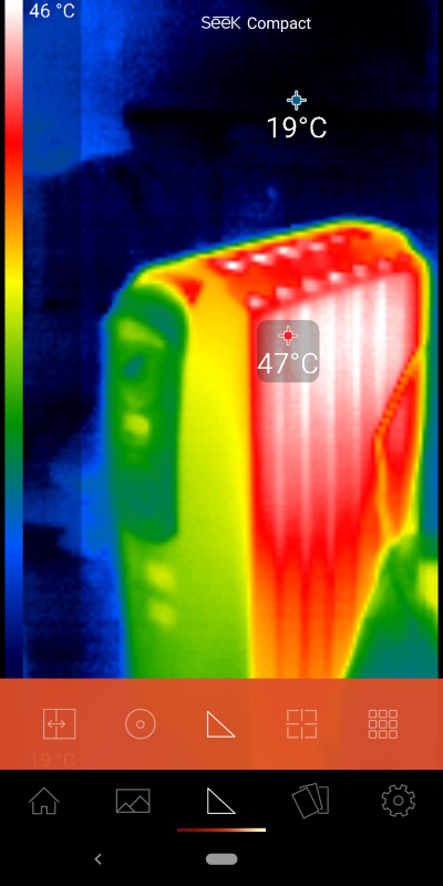 ハイ/ローモード。最高温度と最低温度をそれぞれ検出して表示する