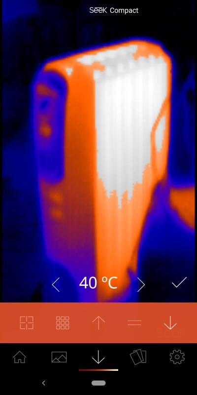 しきい値モード。温度を指定し、それよりも上/下の温度にだけ色を付けて表示する