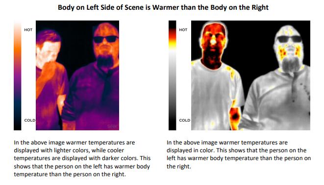 """同社が掲載した<a href=""""https://www.thermal.com/uploads/1/0/1/3/101388544/elevated-temperature-detection-seek-thermal-camera.pdf"""">追加文書(PDF)</a>より。正常体温のユーザーと比較することで、あるユーザーの体温が高いことを検出できる"""