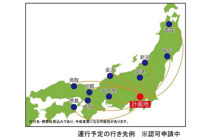 羽田空港から直接観光地へ行けるバスを運行