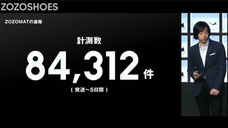 配布から5日で84,312人がZOZOMATで計測