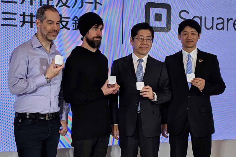 NFC Payにも対応した新型リーダーを紹介するSquareの発表会