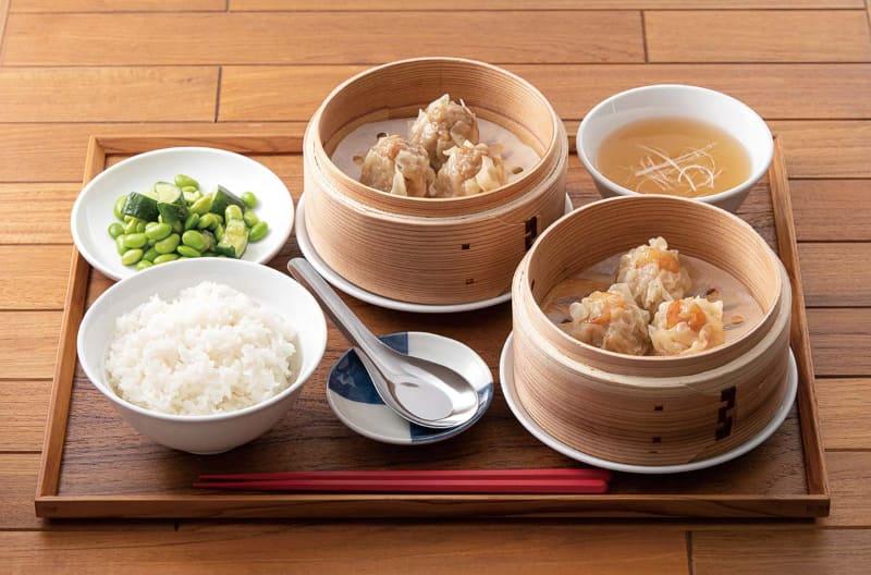 点心酒場PAOPAO+ 2種シューマイ定食(平日ランチ)800円(税込880円)
