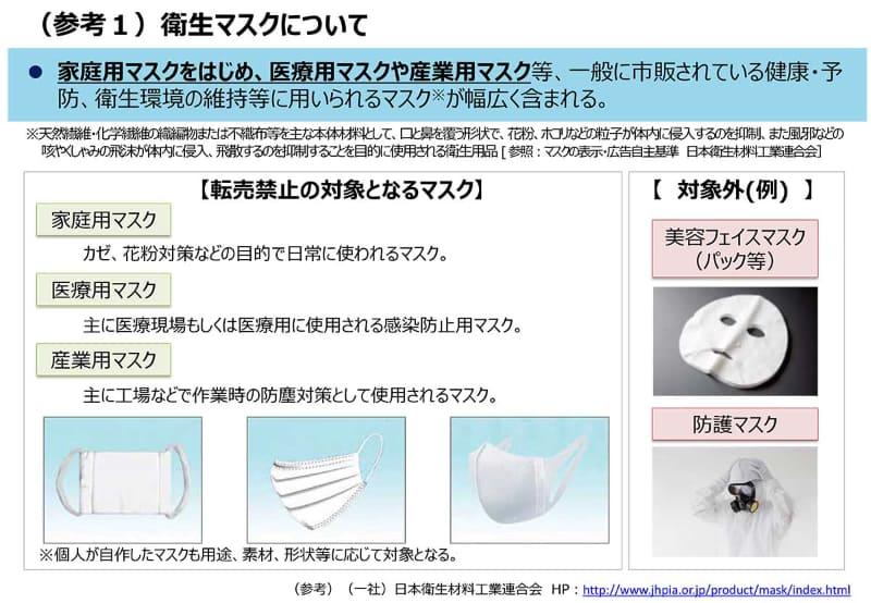 衛生マスクについて(出典:経産省)