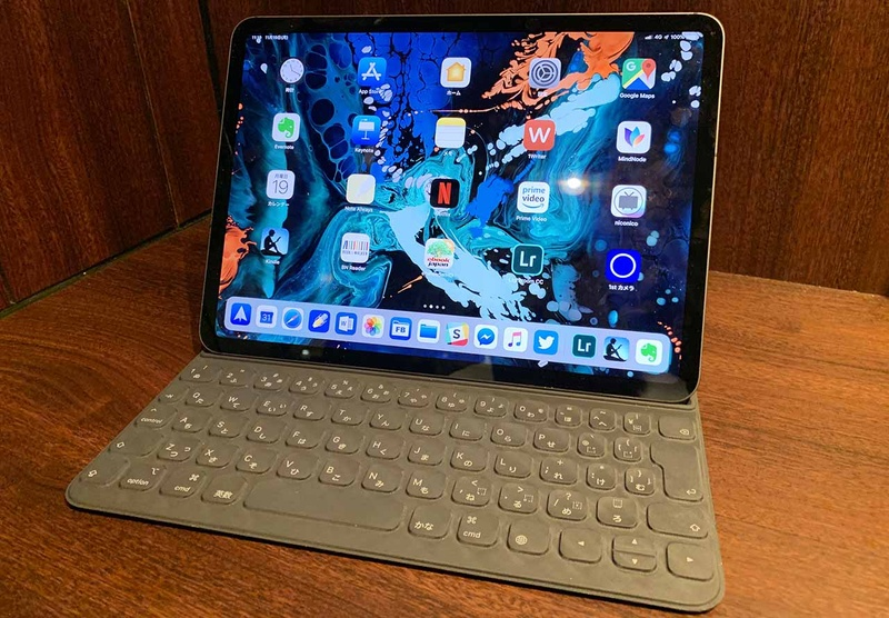 2018年11月掲載の記事より。1サイズ大きいSmart Keyboardを使う「裏技」は通じなくなった