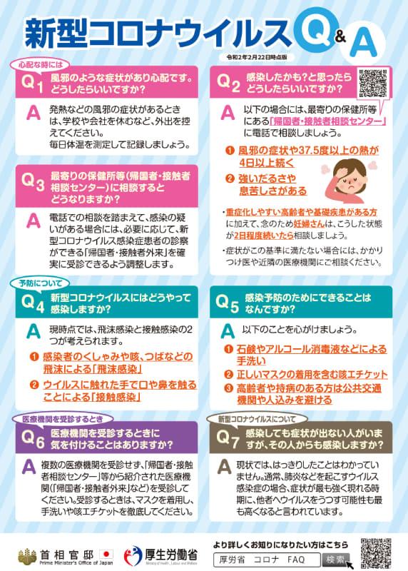 """出典:<a href=""""https://www.kantei.go.jp/jp/content/000060227.pdf"""">首相官邸ホームページ 新型コロナウイルスQ&A(PDF)</a>"""