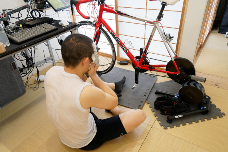 トレーニングの終わりはいつも座り込むほど疲労する