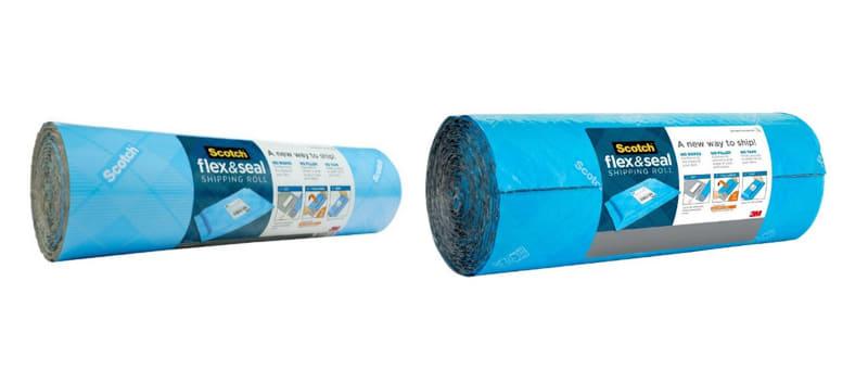 「スコッチ フレックス&シール 梱包ロール」。380mm×3m(左)と380mm×6m(右)
