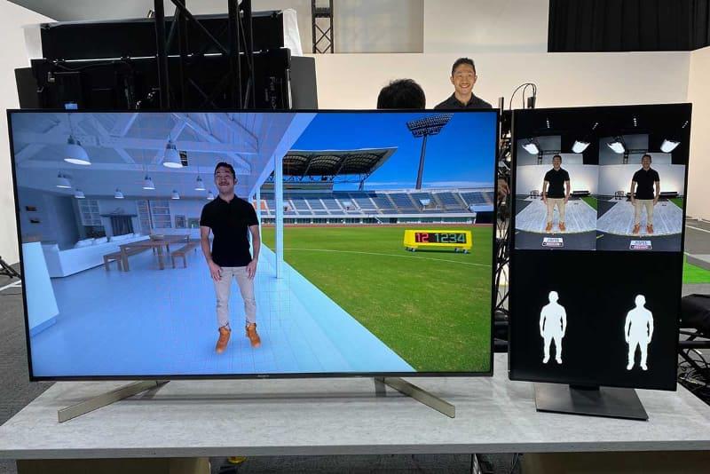 「Sony Technology Day」で公開された、人の姿をCGの中に合成する技術。クロマキー用の幕などを用意せず、2つのカメラだけで人の姿を取り込み、立体的にCGの中に配置する