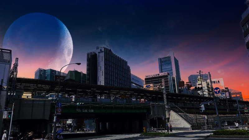 レンズを適応後、表示される「月」を最大限に大きくしてみた。こういう細かな調整もできる