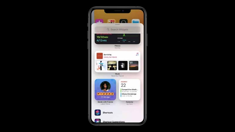 iOS 14では「ウィジェット」の機能が大幅に進化。サイズを3段階に変え、ホーム画面などに配置できるようになる