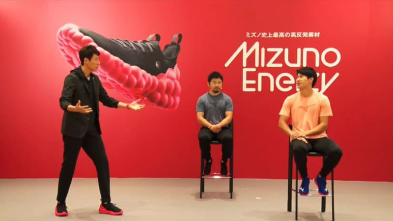 (左から)松岡修造氏、田中史朗選手、飯塚翔太選手
