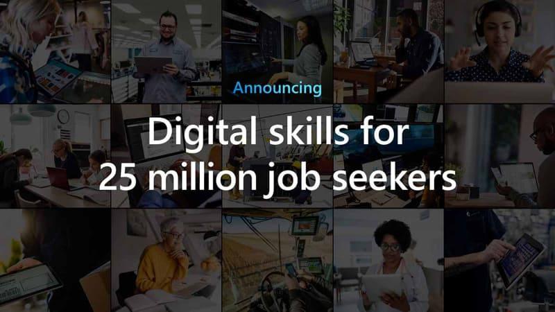 マイクロソフトがデジタルスキル教育による2,500万人規模の求職者支援を発表