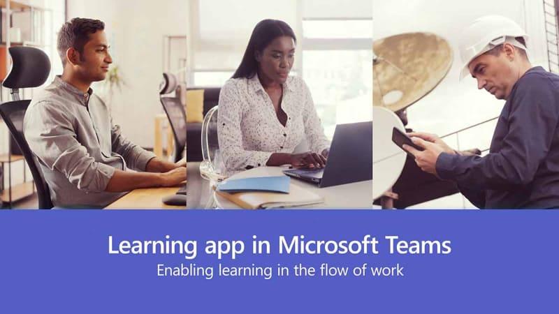 Teamsを軸にLinkedInなどを使い、自分が就きたい職に合わせた技能の習得をオンラインで行なう