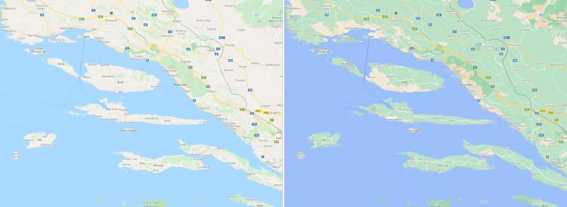 クロアチア沿岸部および周辺の島