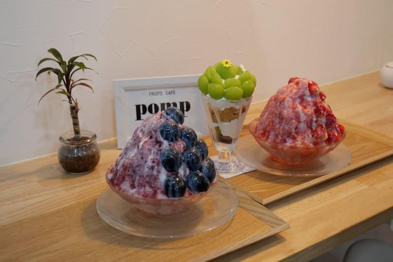 フルーツをふんだんに使ったパフェやかき氷を提供している