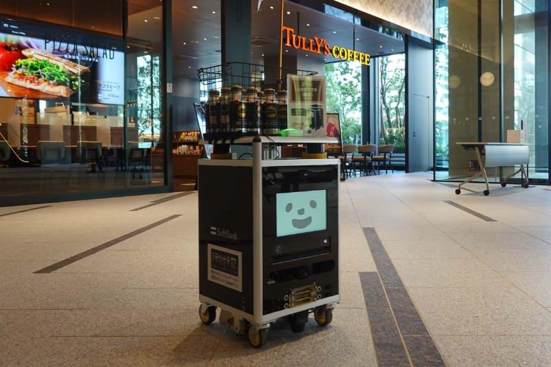 ソフトバンクが実証実験中の配送ロボット「Cuboidくん」
