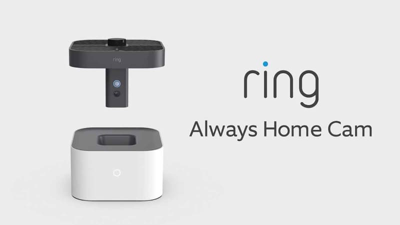 「Ring Always Home Cam」。自宅内を飛んで警備する家庭用デバイス