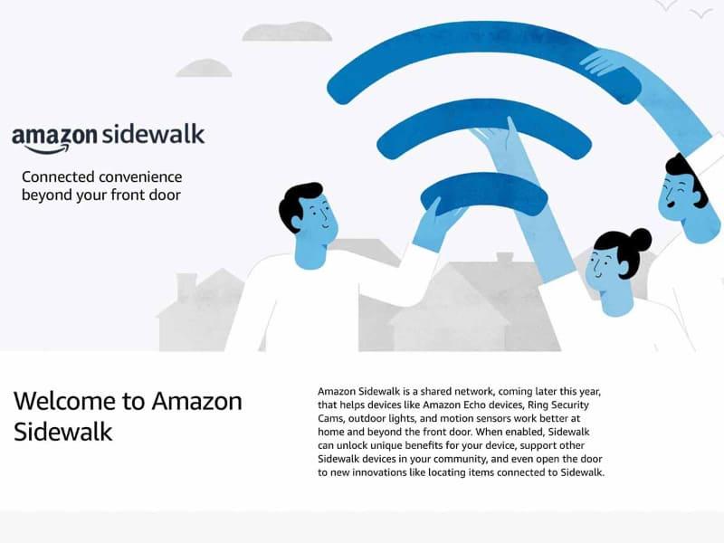 新たに公開された、Sidewalkの詳細解説ページ。セキュリティ関連のホワイトペーパーもここで公開されている