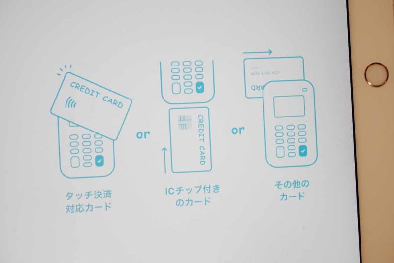 今回の対応では、クレジットカードのIC、磁気ストライプ、NFCの3面待ちに対応しているので、NFCタッチ決済だからといって特別な操作が必要ない点は嬉しい