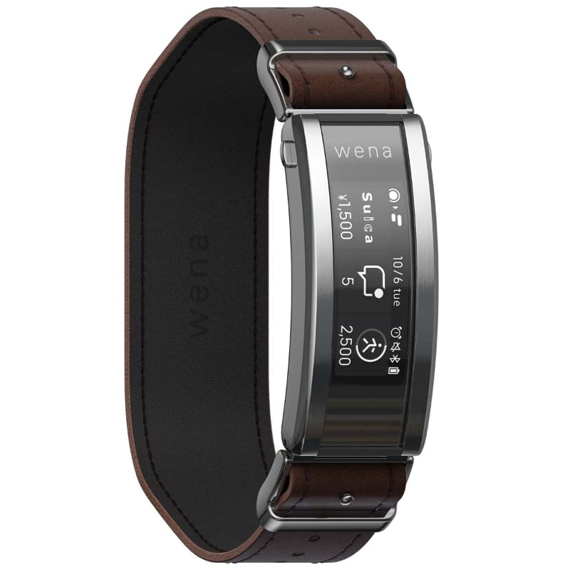 wena 3 leather Silver