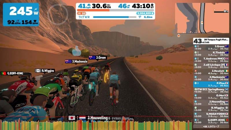 世界中のサイクリストたちとバーチャルレースで競う。みんなチートなんじゃないかと疑いたくなるくらい強い