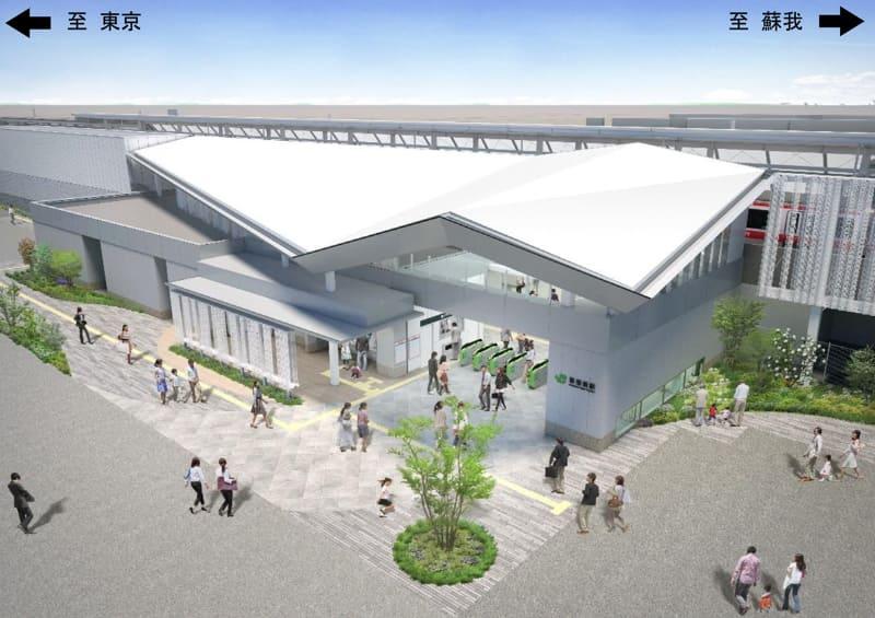 駅舎外観イメージ図(南側より)