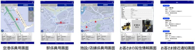 サービス提供者用アプリ 画面イメージ