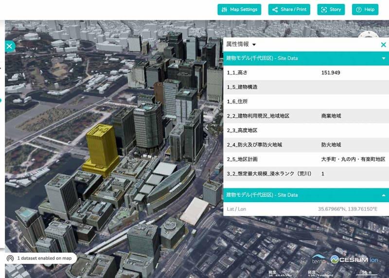 各建物にはその建物の「属性データ」も含まれている。