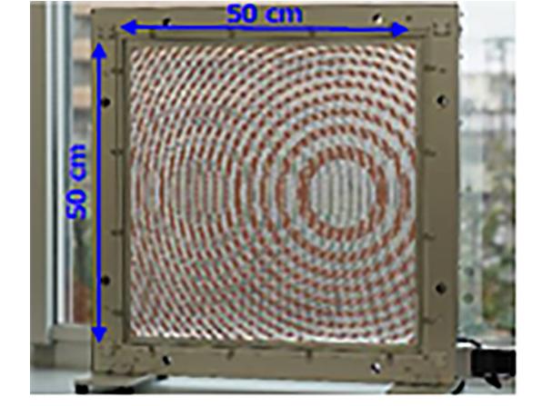 焦点制御機能を有したメタサーフェスレンズ(透明化処理前)