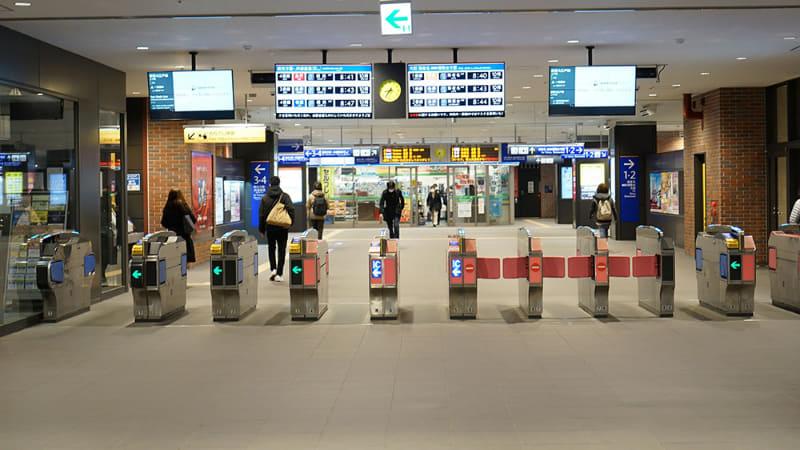カメラ設置予定の二俣川駅改札口