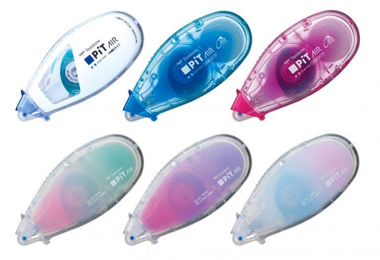 (左上から)スタンダード、ブルー、ピンク、グリーンピンク、パープルピンク、ブルーピンク