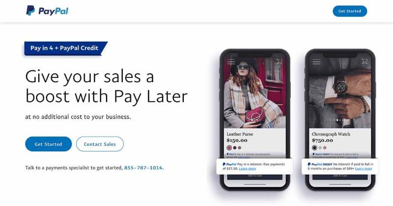PayPalの提供するBNPLオプション「Pay in 4」
