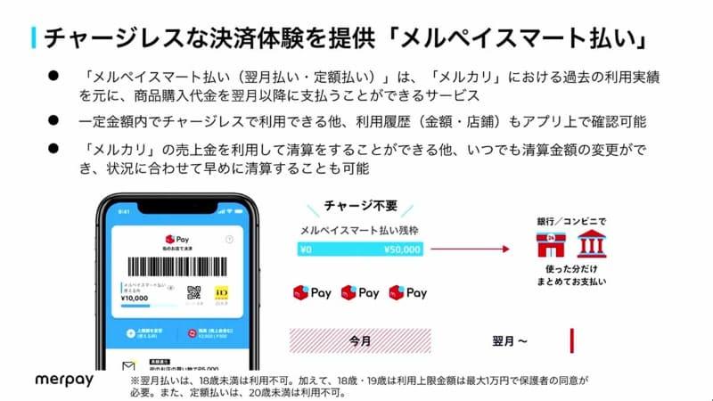 柔軟な支払いオプションを提供する「メルペイスマート払い」
